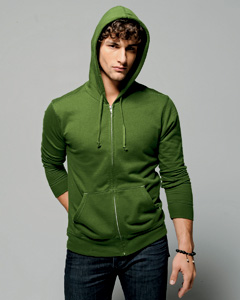 Canvas 3705 Men�s 7.5 oz. Hooded Fleece Sweatshirt -
