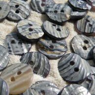 Back of Blue Mussel shell buttons