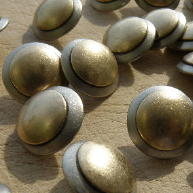 Brass on Nickel buttons