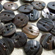 Back of Brown Mussel shell buttons