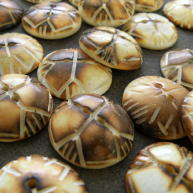 Burnt Bone Buttons