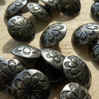 Antiqued Concho A, metal buttons