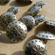 Concho D, metal buttons