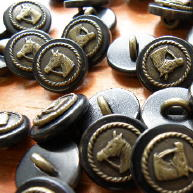 Metal on Horn; Horse buttons