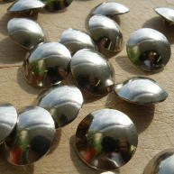 Plaine nickel silver buttons