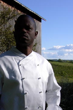 Chef Coat Style CBM101: Shown in White, 100% cotton Supima� gabardine, with ball buttons.