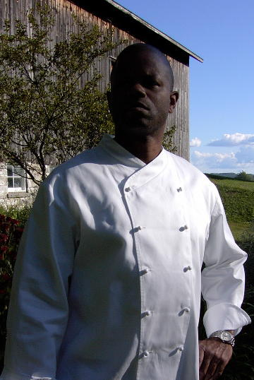 Chef Coat Style CBM101: Shown in White, 100% cotton Supima® gabardine, with ball buttons.