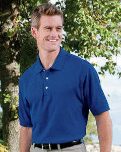 Devon & Jones Men�s Pima Piqu� Short-Sleeve Polo Shirt D100