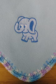 Personalized, Custom Embroidered Fleece Baby Blanket