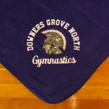 Personalized, Custom Embroidered Fleece Blanket - Gymnastics