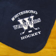Below are just a few samples of layouts you may use to create personalized, custom  embroidered hockey fleece blankets. The images below are intended to ...