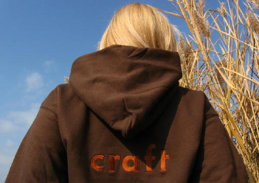 Custom hoodie embroidered with Craft logo